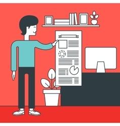 Man presenting business report vector