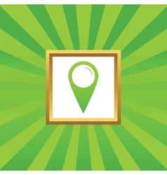 Map marker picture icon vector