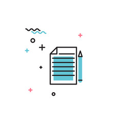 Notebook with pen icon vector