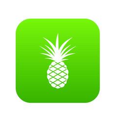 pineapple icon digital green vector image