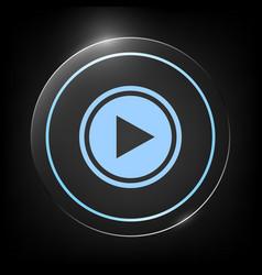 Play icon symbol vector