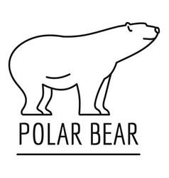Polar bears logo outline style vector