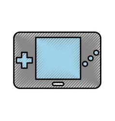 Portable video game console vector