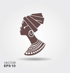 Portrait beautiful african woman in traditional vector