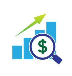 Profit business up logo designs business vector