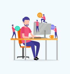 programming web development design concept vector image