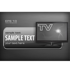 Promotion banner TV vector