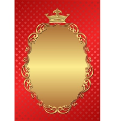 Red background with royal frame vector