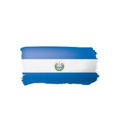 Salvador flag on a white vector
