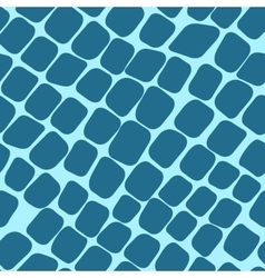 Seamless blue pattern with paving stones vector