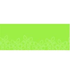 seamless horizontal pattern with botanical element vector image