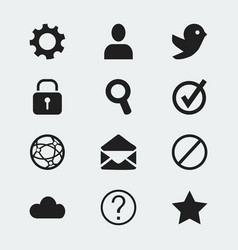 set of 12 editable internet icons includes vector image