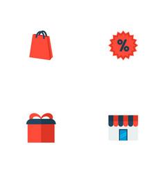 set of magazine icons flat style symbols with gift vector image