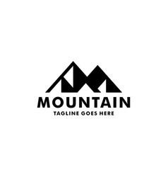 simple mountain logo design inspiration vector image