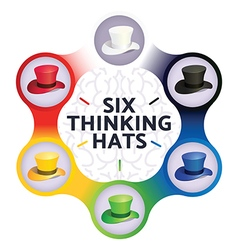 Six Thinking Hats Business Leadership Concept vector