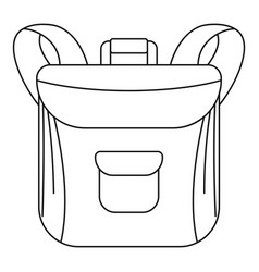 small backpack icon outline style vector image