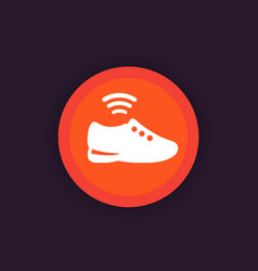 smart shoe icon modern trainers sneakers vector image