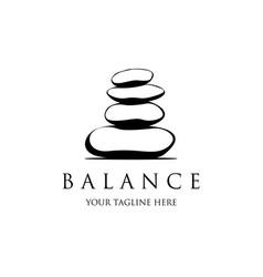 spa logo template stones for logo design vector image