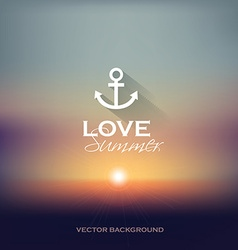 Summer sunset blurry background vector