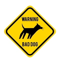 Warnin bad dog isolated icon design vector