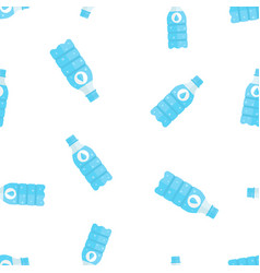 water bottle icon seamless pattern background vector image