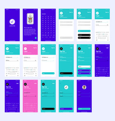 wireframe ui kit for login and sign up vector image