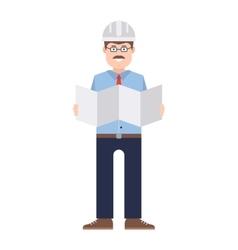 Worker man character vector image
