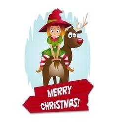 Christmas Elf Card vector image vector image