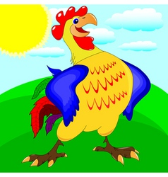 funny rooster vector image
