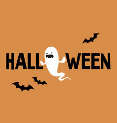 halloween conceptual sign evil ghost and black vector image