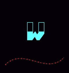 letter W-01 vector image