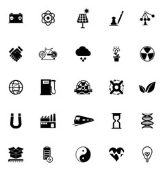 Renewable energy icons on white background vector image vector image
