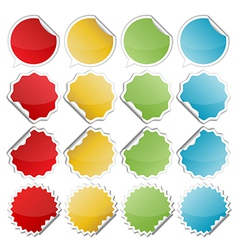 Colorful bended stickers vector