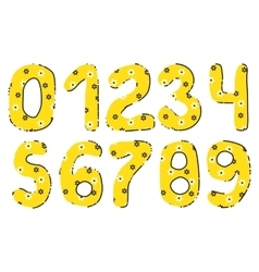 Handwritten Numbers Set vector image