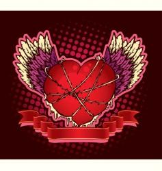 hard heart vector image