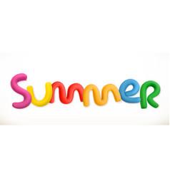lettering summer 3d plastic letters vector image