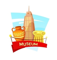 Museum concept design vector image