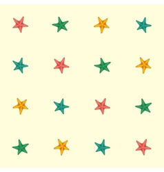 Starfishes seamless pattern vector image