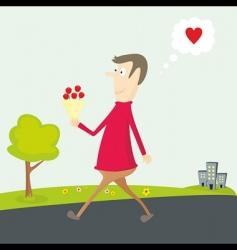 Valentine's flower vector image vector image