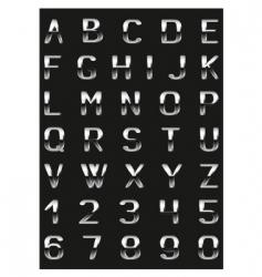 Abc metal vector