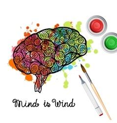 Creativity Brain Concept vector image