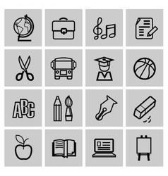 Icons set school vector