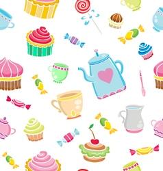 tea time seamless vector image