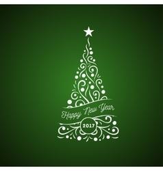 Christmas tree ornament vector image vector image