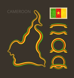Colors of Cameroon vector image vector image