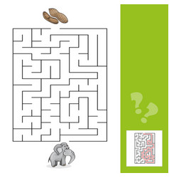 education maze or labyrinth leisure game with vector image