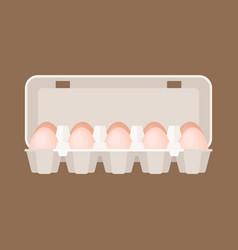 egg box in flat design vector image vector image
