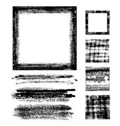 grunge frame set vector image vector image