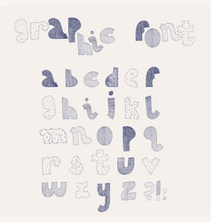 hand drawn alphabet letters sequence from vector image vector image