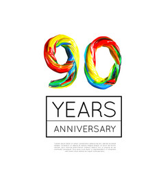 90th anniversary congratulation for company or vector image